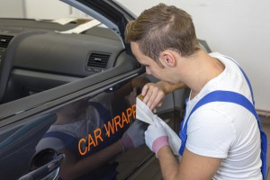 Auto Folieren Car Wrapping Text