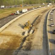 Baustelle Autobahn einspurig