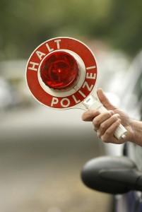Bußgeldkatalog Polizeikelle Schild