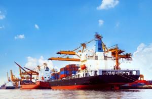 Dieselmotor Hafen Container