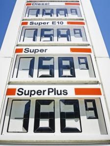 E10 Tankstellenanzeige Preise