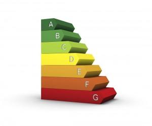 Energielabel farbige Treppe