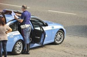 Führerschein verloren Polizeikontrolle Polizeiwagen