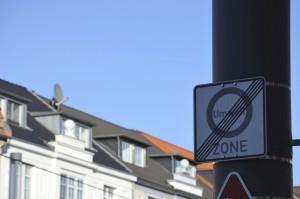 Feinstaubplakette Umweltzone Schild