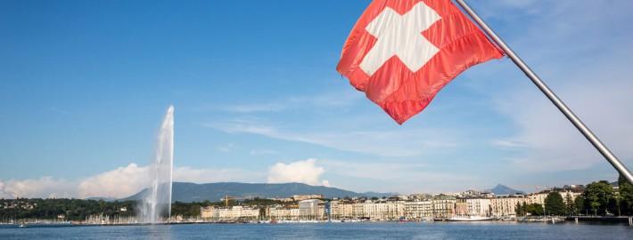 Genfer Autosalon 2016 Genf Schweiz Flagge