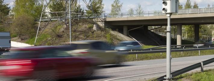 Geschwindigkeitsüberschreitung Landstraße Blitzer