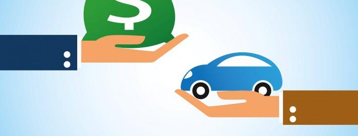 Kraftfahrzeugsteuer reichende Hände Geldsack Auto