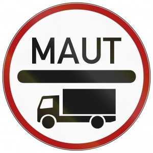 LKW Maut Schild Verkehrszeichen