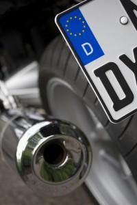 Motorrad Kennzeichen Auspuff Reifen