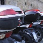 Motorrad Kennzeichen Parkende Motorräder Reihenfolge
