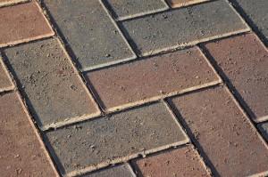 Pflastersteine Auffahrt Zement