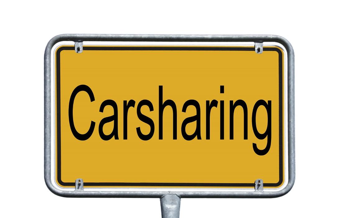 Privates Carsharing Schild Verkehr