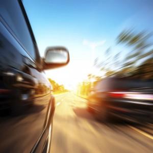 Sicherheit Straßenverkehr schneller Überholvorgang