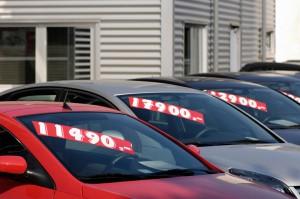 Tachojustierung Verkaufsschild Auto
