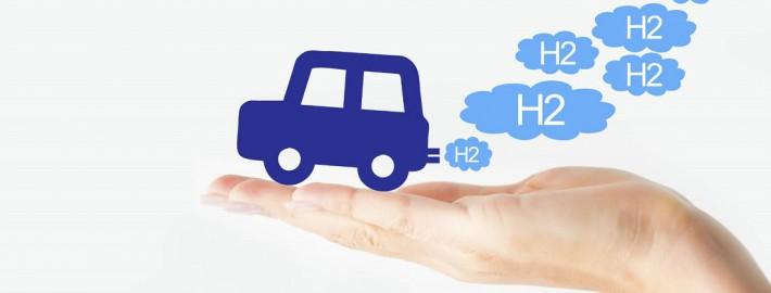Wasserstoffauto H2O Hand