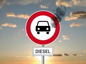 Diesel-Fahrverbot-Schild