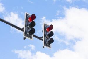rote Ampel überfahren zwei Ampeln
