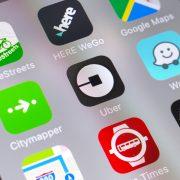 Uber-App auf dem Smartphone